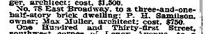 Philip H Samilson 78 E Broadway, NYT 9 March 1900