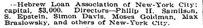 Philip H Samilson, NYT 22 Jan 1896