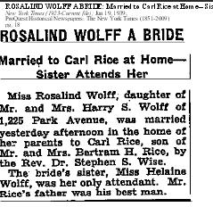 Rosalind Wolff, NYT 19 Jan 1939