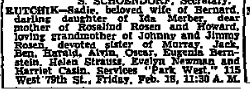 Sadie Merber Rutchik, NYT 18 Feb 1955