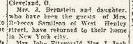 Sarah Bernstein & Rebecca Samilson, Olean Evening Herald 4 Dec 1923