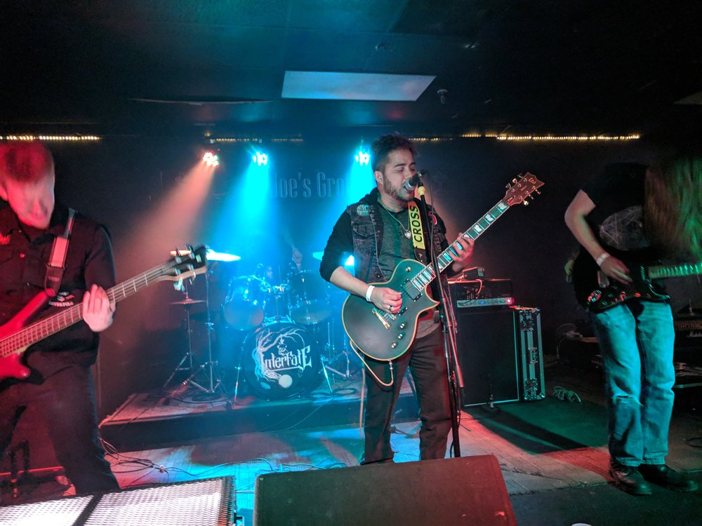 Interfate performs live at Joe's Grotto Feb 9, 2019