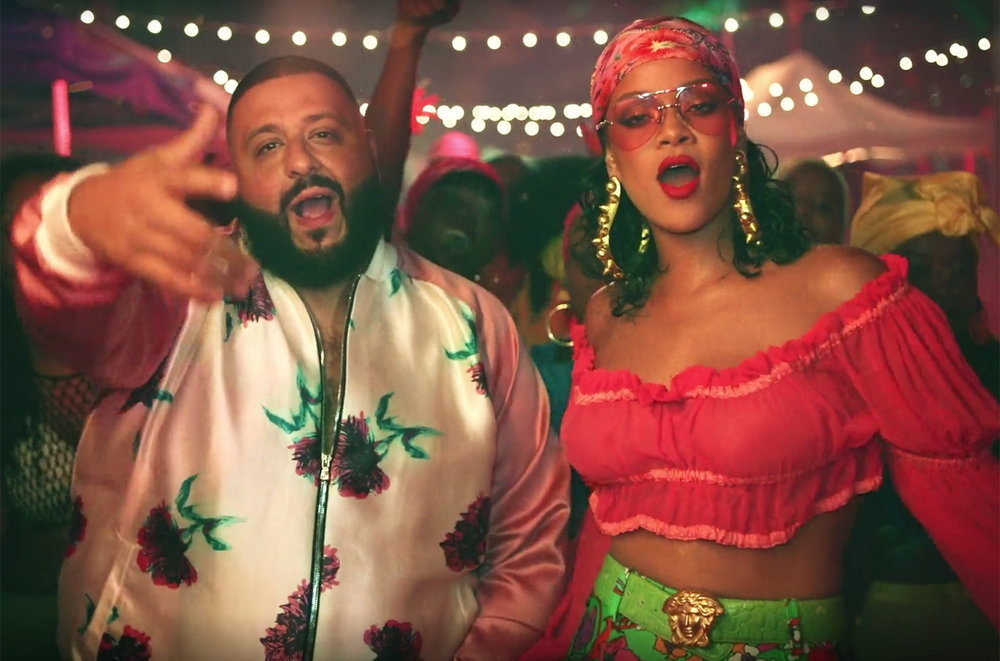 "Rihanna and DJ Khaled in the ""Wild Thoughts"" music video. Image courtesy of Billboard."