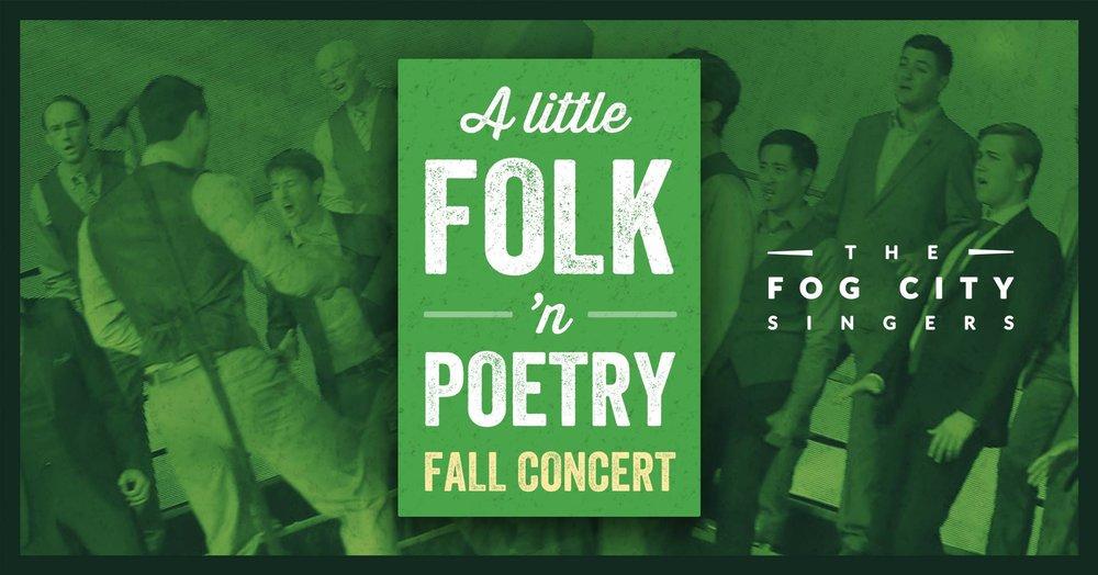Fog City Singers concert poster November 2017. Image credit: Loren May -https://flic.kr/p/VRBxvG