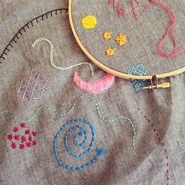 I obsessively do embroidery in the evenings and need to pass on some of my creations!