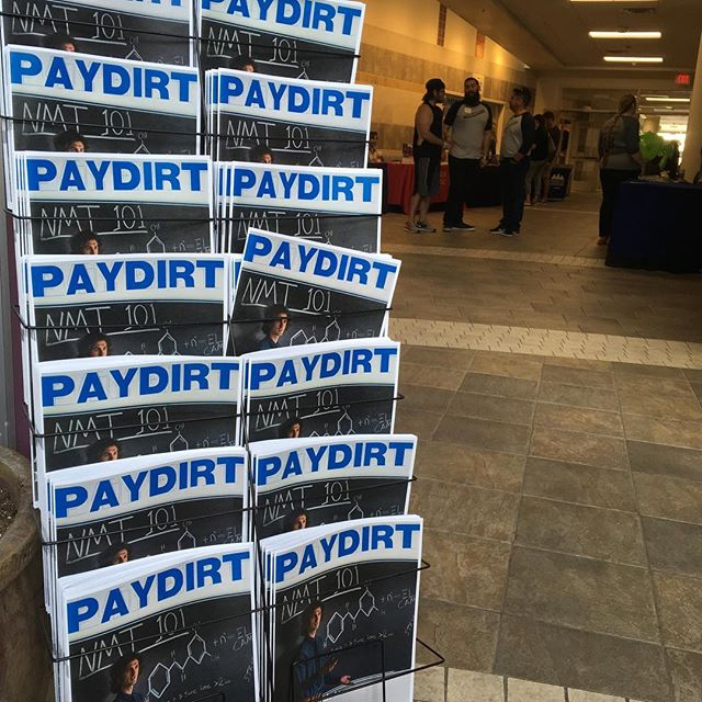 We're here. Other people are too, but mostly us. The issues. Come and get some. . . . . . #paydirt #socorro #college #orientation