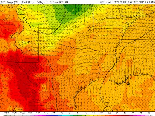 A backdoor cold front in the states.
