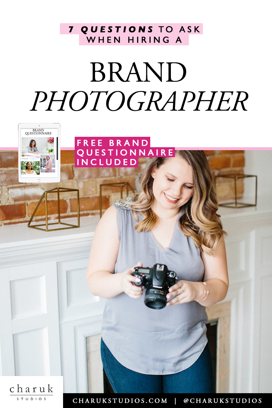 7 Questions to ask when hiring a brand photographer by Charuk Studios