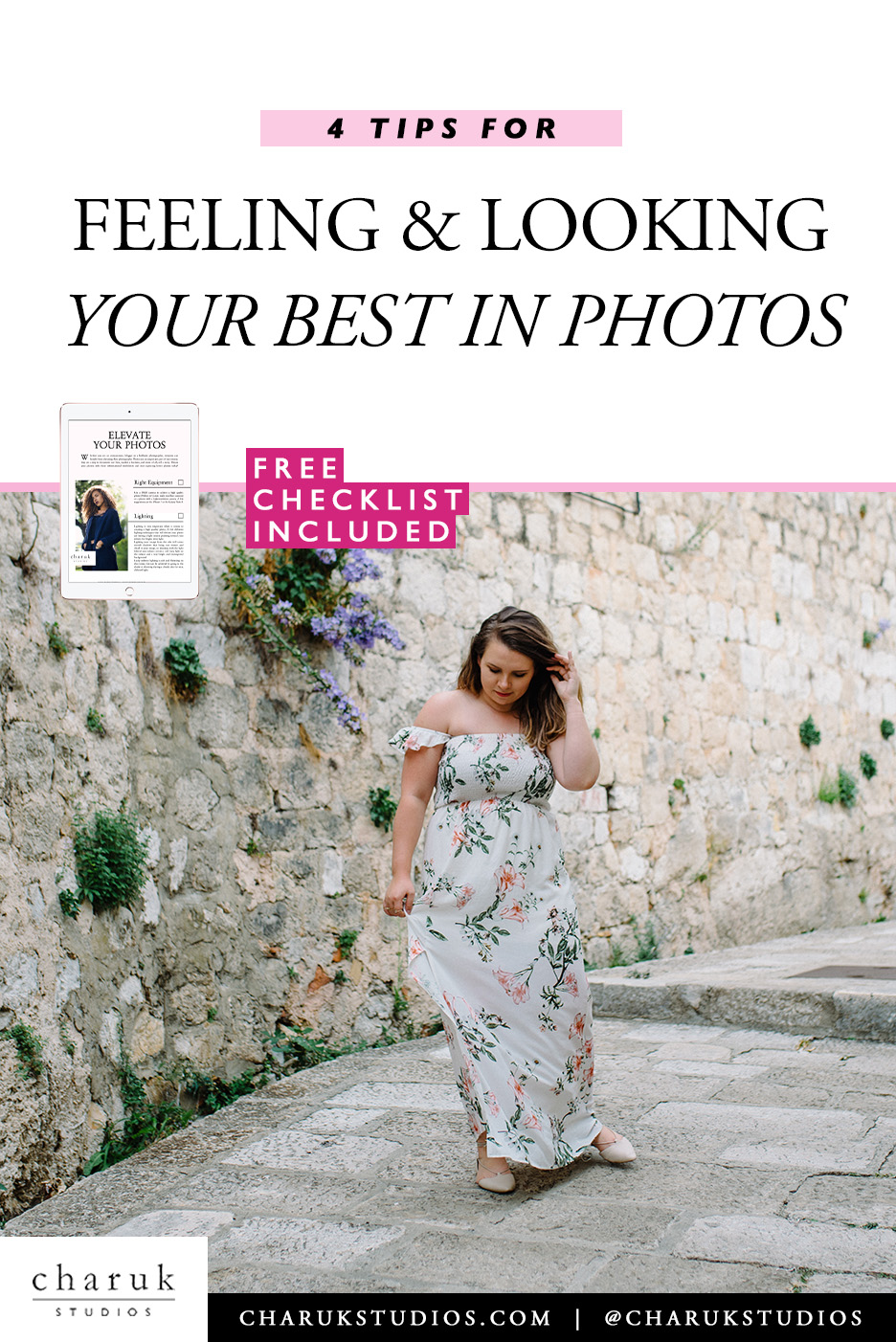 4 Tips for looking and feeling your best in photos by Charuk Studios