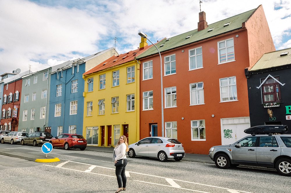 One of the many colourful streets in Reykjavik, Iceland