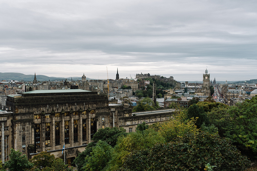 View from the top of Calton Hill