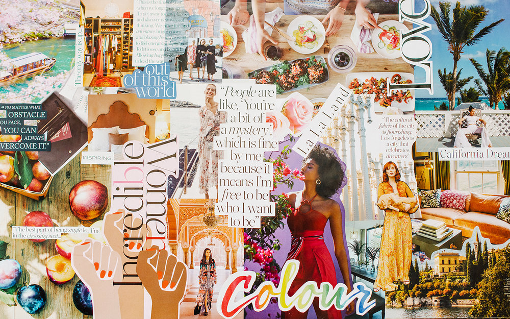 My 2018 vision board!