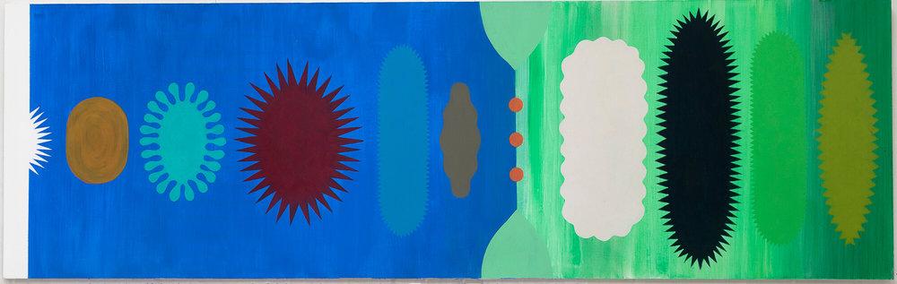 Acrylic on canvas. No title. 2015. 210 x 60 cm.