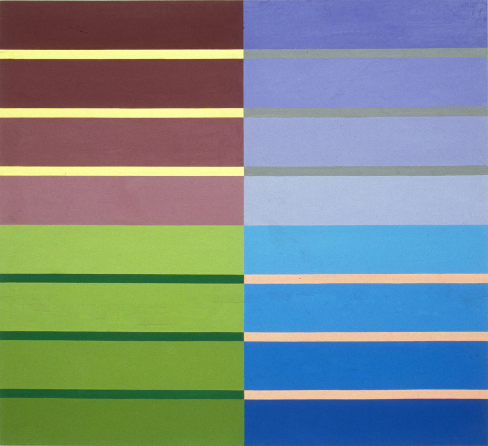 Linda Linda Vista, 122 x 132 cm. Oil tempera on aluminum sheet, 2002