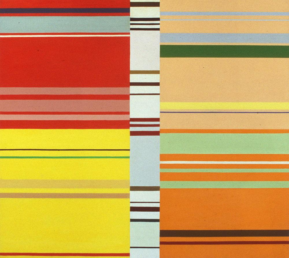 No title. 107 x 118 cm. Oil tempera on aluminum sheet.  2001