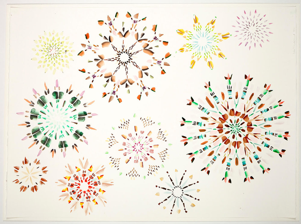 Crystals A-Z, 2010, 76 x 55 cm.