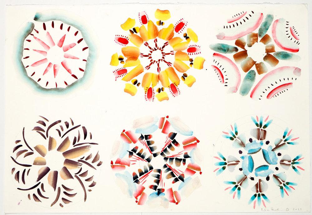 Crystals A-Z, 65 x 50 cm. 2012