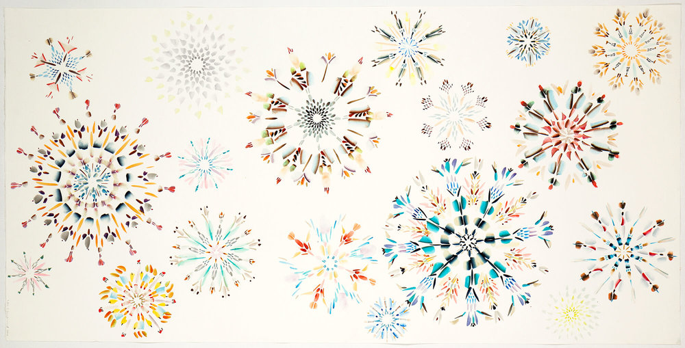 Crystals A-Z, 140 x 70 cm. 2010