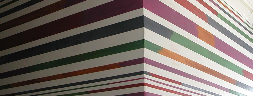 Detail of a mural. Tempera, 2004