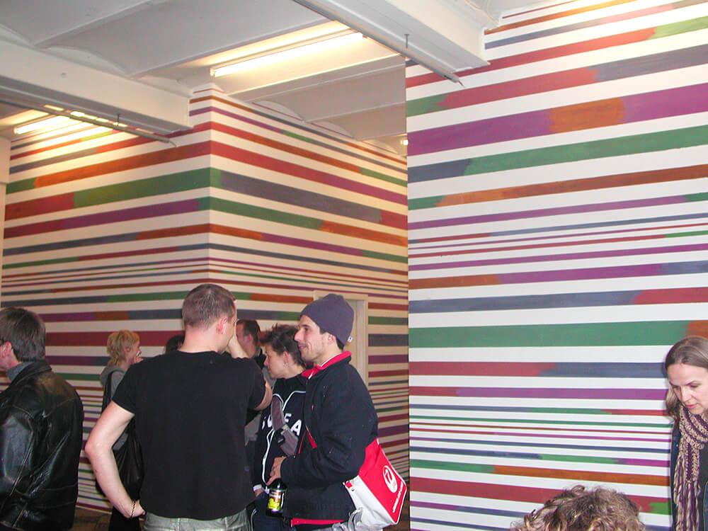 Photo of mural, tempera, 2004
