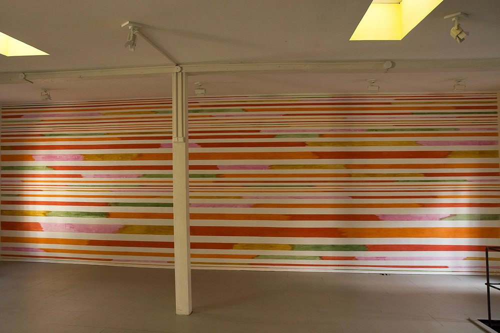 Mural, pigment in dispenser, 12 x 3,5 m, 2008