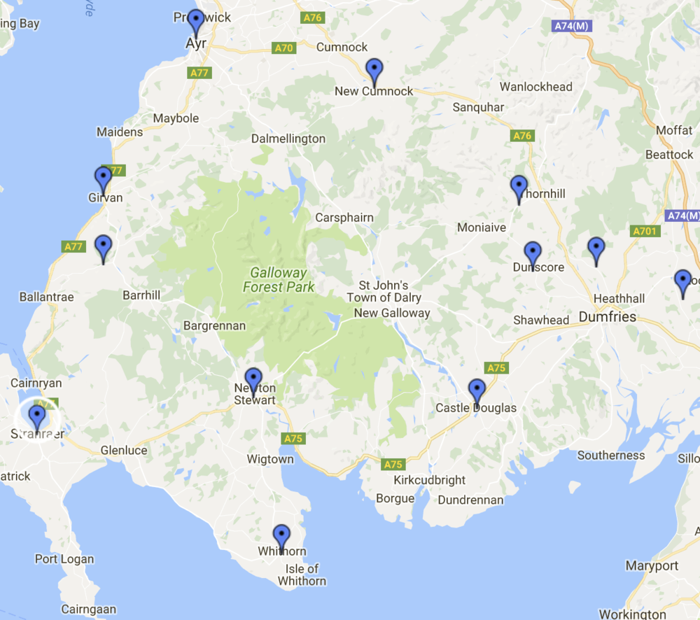 For an interactive map of locations of RPCS congregations past and present, click  here