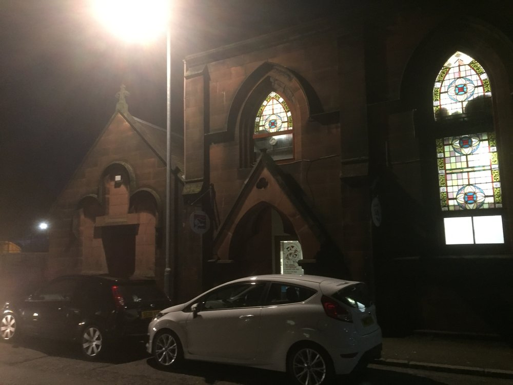 The building where Dumfries Reformed Presbyterian Church met - now a boxing gym