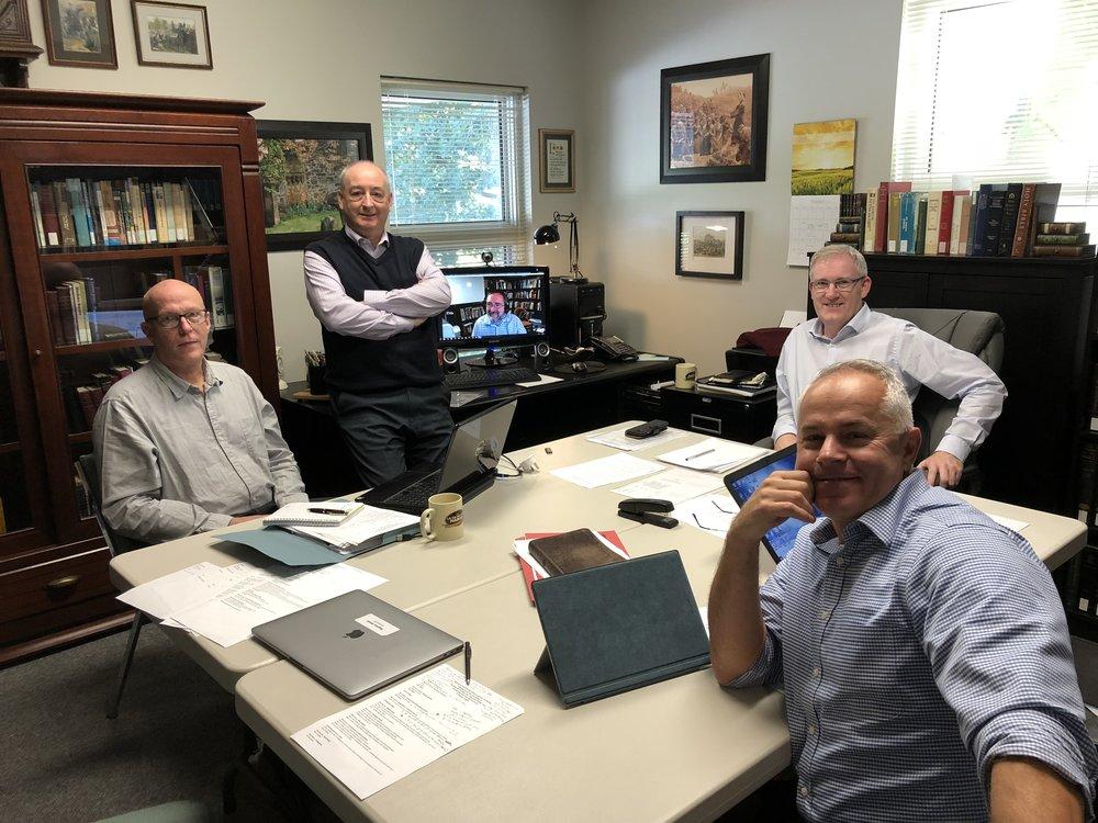 L-R: Bill Matthess (Ireland), Andrew Stewart (Australia), Matt Filbert (US - via Skype), Andrew Quigley & Matt Kingswood (Canada)
