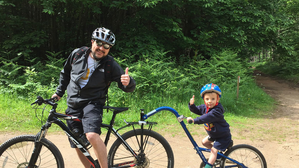 Guest Blogger Rob Page, Head of Design at  Wattbike , and his son Charlie.