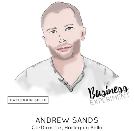 The Business Experiment Podcast Andrew Sands Harlequin Belle