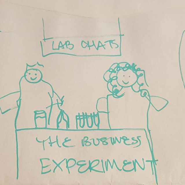 Jemimah has been working with our new Graphics Babe to design the logo for Lab Chats. This was her amazing drawing as a starting point. We thought you all needed to see this.  Jemimah cannot draw.  #businessreal #drawing #32ortoddler