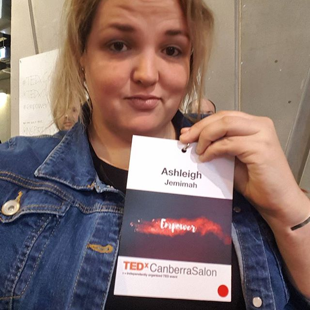 Jemimah is hanging out at TedX Canberra 'Empower' today and she is LOVING it.  #tedx #tedxtalks #tedxcanberra