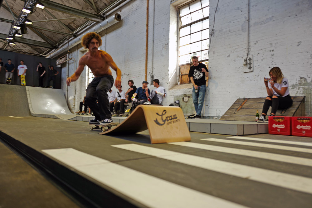 The winner of the Graw Jump Ramps longest ollie competition at Bright 2016.jpg