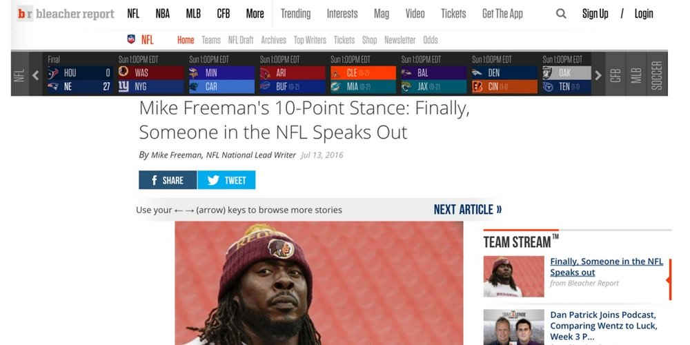 Ricky Jean Francois talks to bleacher report about athletes and social justice in july 2016.
