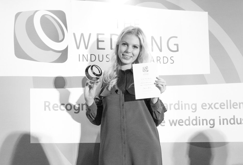 Here's the lovely Eliza receiving her award at The Wedding Industry Awards last November!