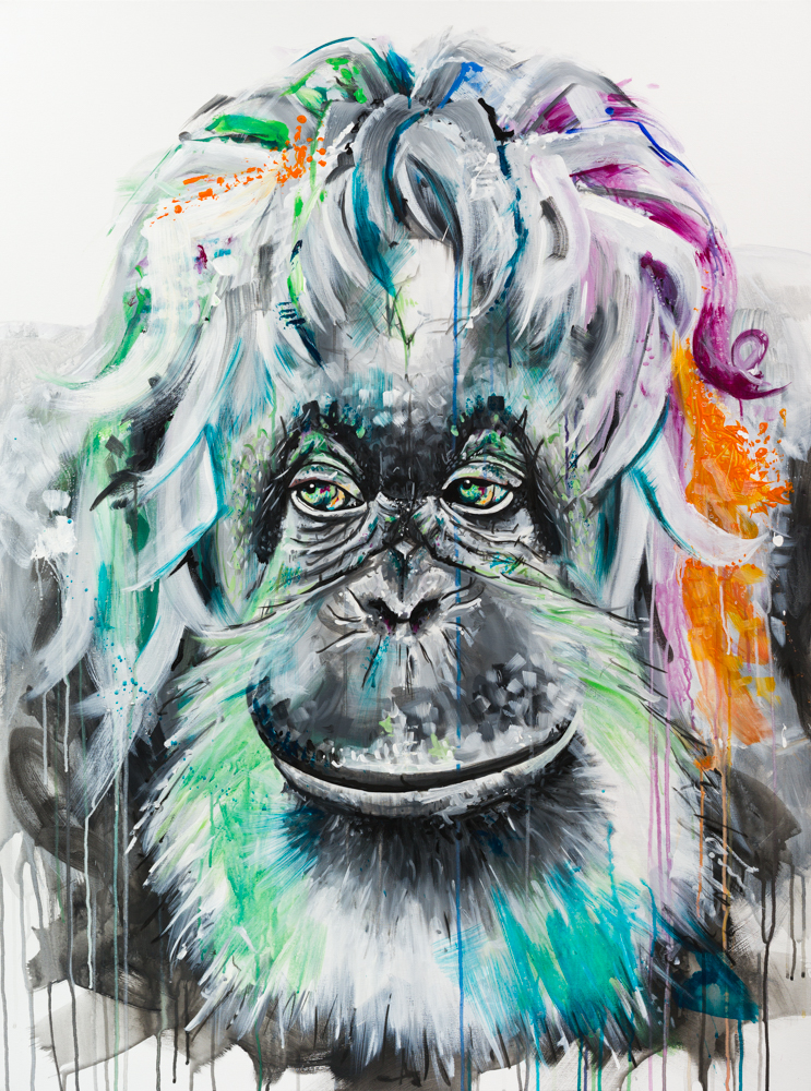 "'ORANGUTAN' Acrylic on Canvas / 36""X48"" SOLD"