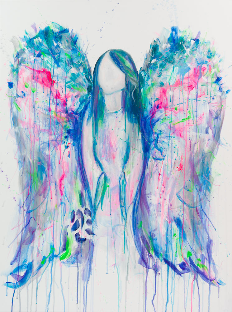 "'ANGELIC'  Acrylic on Canvas / 36"" x 48"" SOLD"