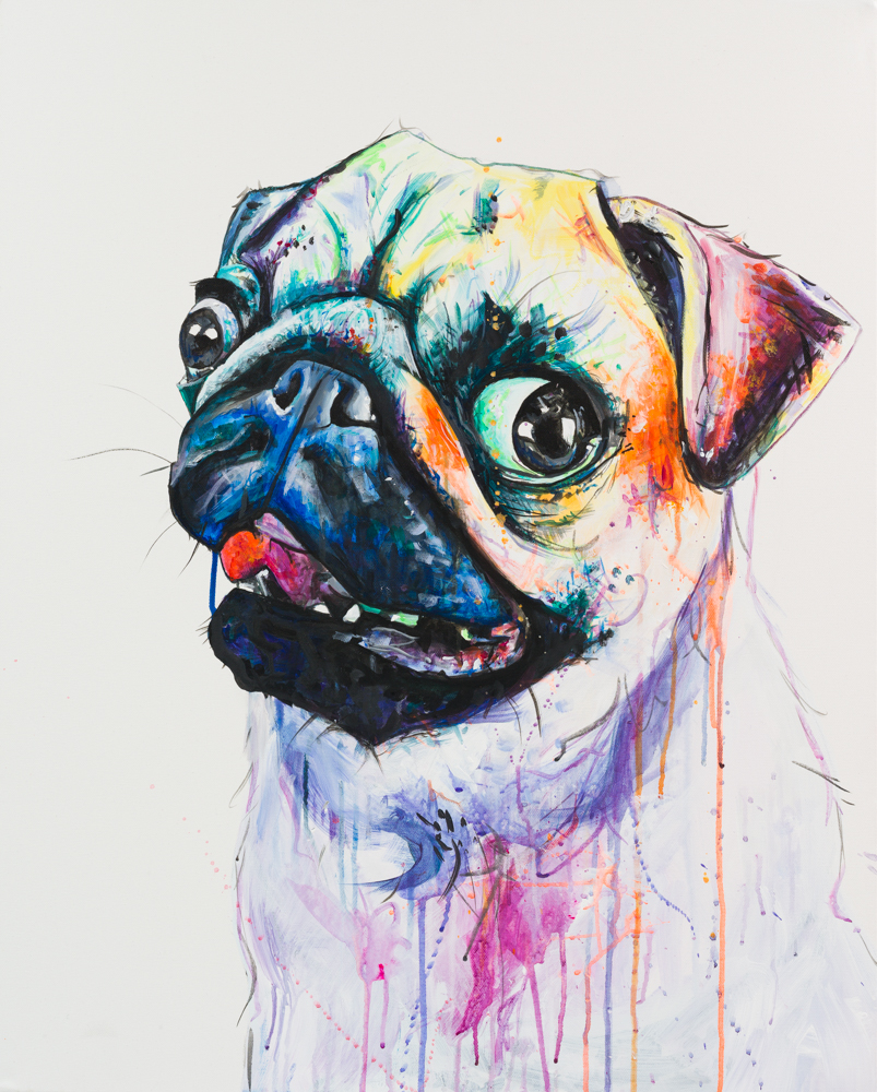 'PUG LIFE' Acrylic on Canvas SOLD