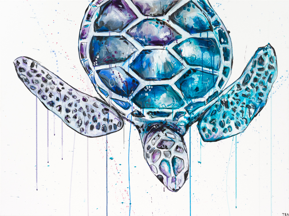 "'TURTLE' ACRYLIC ON CANVAS / 30""X 40"" SOLD"