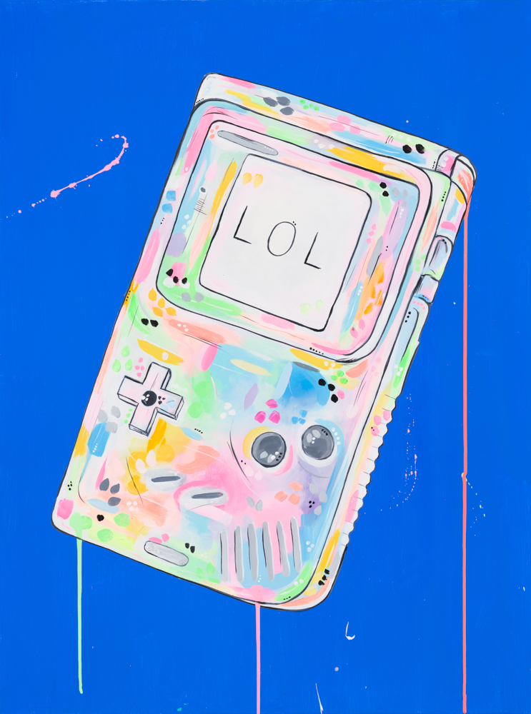 "'LOL' ACRYLIC ON CANVAS / 30""X 40"" AVAILABLE / £1,200"