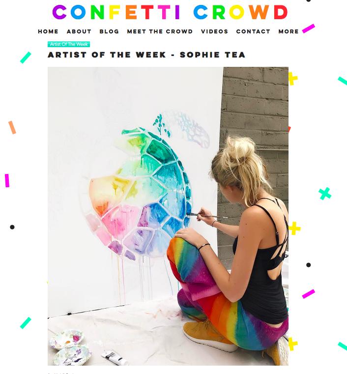 Confetti Crowd     Artist of the Week -   Sophie   Tea   April 2017