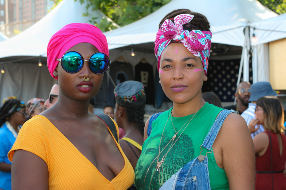 @caxmee & friend at #afropunkfest .