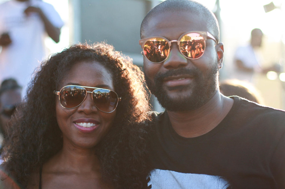 @abiolaoke ( @okayafrica Ceo) & Farrah Desir Oke at #afropunkfest , Golden Stage