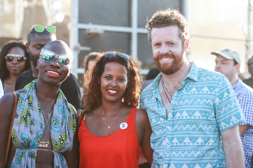 Idil Ibrahim ( in the middle) & friends  at #afropunkfest .