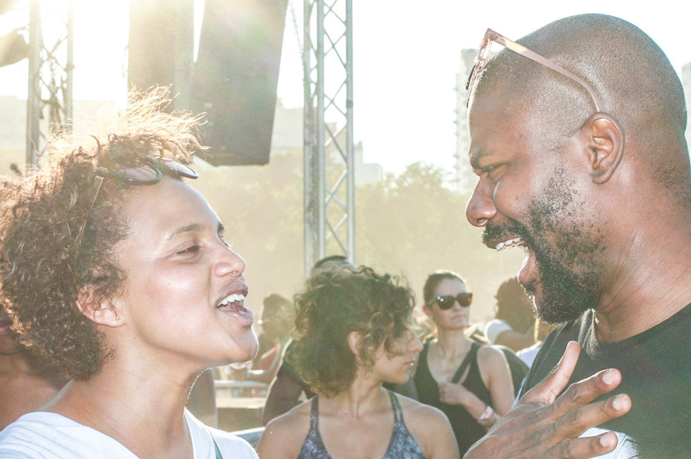@_hellima ( Hellina Tadesse)& @abiolaoke at #afropunkfest.