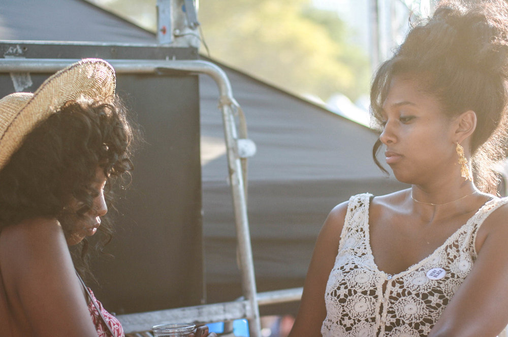 @azizalaziza & @liteuponlite at golden stage during @djmoma set at #afropunkfest .