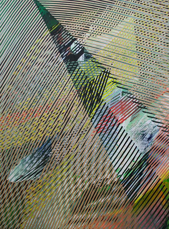 Cusp | 2016 | oil, acrylic and spray enamel on canvas | 118 x 89 cm