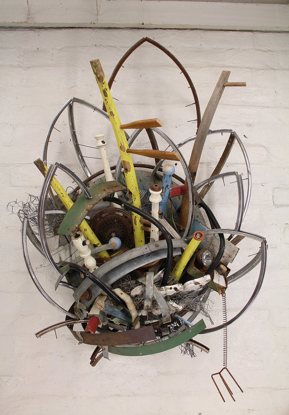 Atomic age organics Inc  | 2016 | discarded metal, timber and plastic objects wire and rubble | 129 x 88 x 49 cm