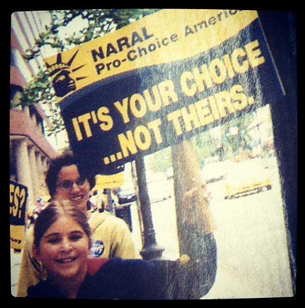 This week, in lieu of silly pictures, you get pictures of me advocating for safe and legal abortion.
