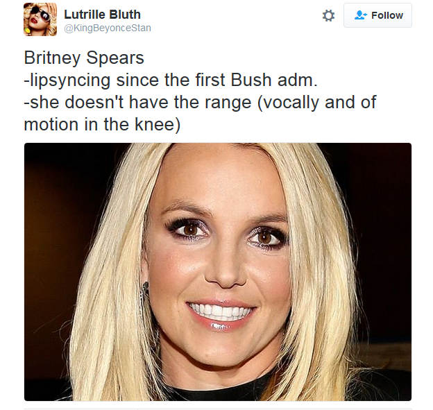 Britney, we're proud you got your life back on track but you don't have the range.